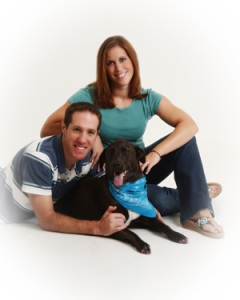 Our family portrait, shortly before Rudi came along in 2007.